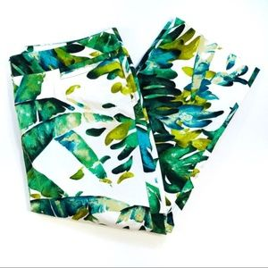 Lafayette 148 Palm Tree Print Cropped Pants